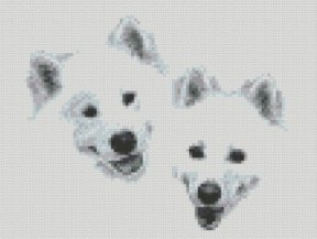 Samoyed_friends_cross_stitch