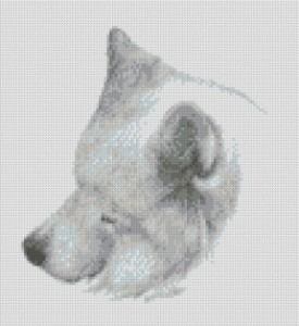 Sleeping Sam - cross stitch